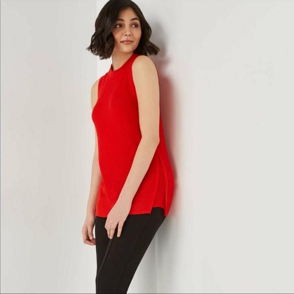 🍁 JOE FRESH Sleeveless Tunic Sweater Split Hem
